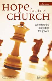 Cover of: Hope for the church by Bob Jackson