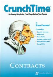 Cover of: Contracts (Crunch Time) by Steven Emanuel