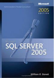 Cover of: Microsoft  SQL Server(TM) 2005 Administrator's Pocket Consultant (Pro-Administrator's Pocket Consultant) by William R. Stanek