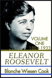 Cover of: Eleanor Roosevelt by Blanche Wiesen Cook