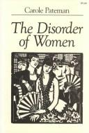 Cover of: The Disorder of Women by Carole Pateman