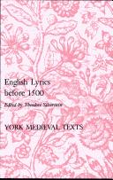 English Lyrics Before 1500 (York Medieval Texts. Second Series) Theodore Silverstein