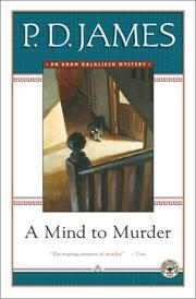 Cover of: A mind to murder by P. D. James