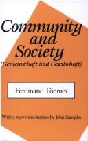 Cover of: Gemeinschaft und Gesellschaft by Ferdinand Tnnies