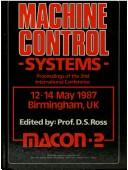 Cover of: Machine control systems by MACON-2 Conference (1987 Birmingham, England)