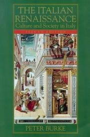 Cover of: The Italian Renaissance by Peter Burke