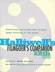 Cover of: Filmgoer's companion by Halliwell, Leslie.