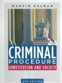 Cover of: Criminal Procedure by Marvin Zalman