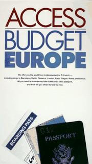 Cover of: Access Budget Europe (Access Guides) by Richard Saul Wurman