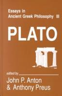 Cover of: Essays in Ancient Greek Philosophy, III by John P. Anton, Anthony Preus