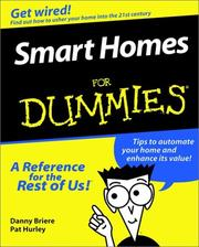 Cover of: Smart homes for dummies by Daniel D. Briere