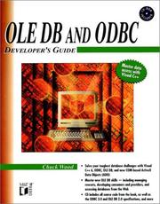 Cover of: Ole Db and Odbc Developer's Guide by Chuck Wood