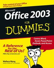 Cover of: Office 2003 for Dummies by Wallace Wang, Wally Wang