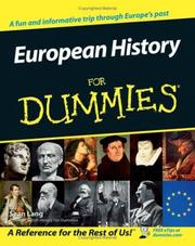 Cover of: European History for Dummies by Sean Lang