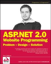 Cover of: ASP.NET 2.0 Website programming by Marco Bellinaso