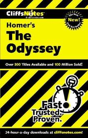 Cover of: CliffsNotes on Homer&#39;s The Odyssey by Stanley P. Baldwin