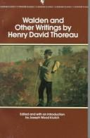Cover of: Walden and other writings by Henry David Thoreau
