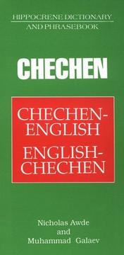 Cover of: Chechen Dictionary &amp; Phrasebook (Hippocrene Dictionary and Phrasebook) by Nicholas Awde