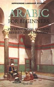Cover of: Arabic for Beginners by Syed A. Ali