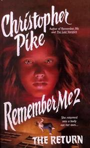 Cover of: Remember Me 2 by Christopher Pike