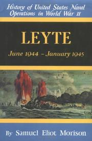 Cover of: Leyte by Samuel Eliot Morison