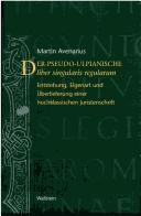 Cover of: Der pseudo-ulpianische liber singularis regularum by Martin Avenarius