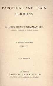Cover of: Parochial and plain sermons by John Henry Newman