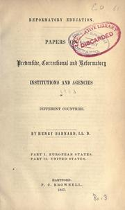 Cover of: Reformatory education by Henry Barnard