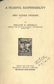 Cover of: A fearful responsibility by William Dean Howells