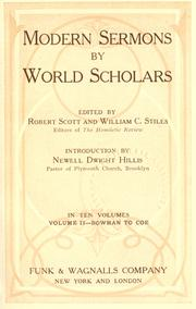 Cover of: Modern sermons by world scholars by Scott, Robert