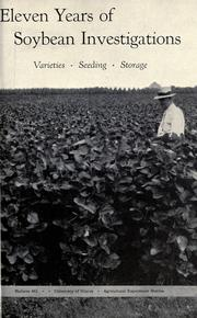 Cover of: Eleven years of soybean investigations by W. L. Burlison