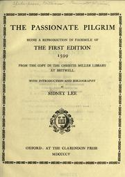 Cover of: The passionate pilgrim by William Shakespeare