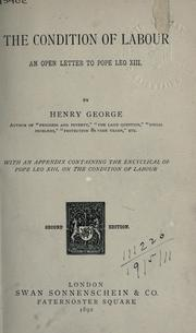 Cover of: The condition of labour by George, Henry