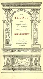 Cover of: The temple by Herbert, George