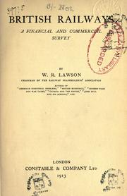 Cover of: British railways by W. R. Lawson