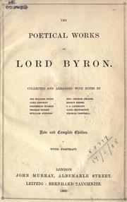 Cover of: The works of Lord Byron by Lord Byron