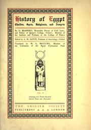 Cover of: History of Egypt, Chaldea, Syria, Babylonia, And Assyria by G. Maspero