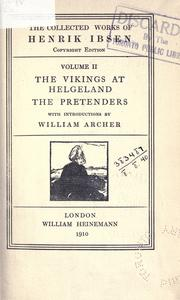 Cover of: The vikings at Helgeland by Henrik Ibsen