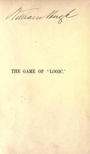 Cover of: The game of logic by Lewis Carroll