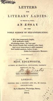 Cover of: Letters for literary ladies by Maria Edgeworth