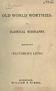 Cover of: Plutarchi Vitae parallelae by Plutarch