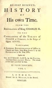 Cover of: History of my own time by Burnet, Gilbert