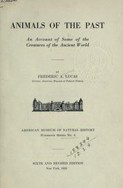 Cover of: Animals of the past by Frederic A. Lucas
