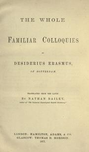 Cover of: Colloquia by Desiderius Erasmus