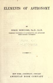 Cover of: Elements of astronomy by Simon Newcomb