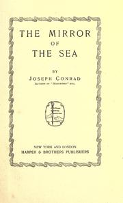 Cover of: The mirror of the sea by Joseph Conrad