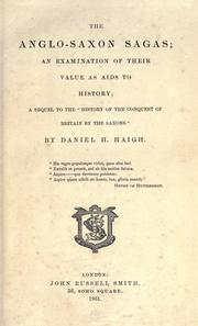 Cover of: The Anglo-Saxon sagas by Daniel Henry Haigh