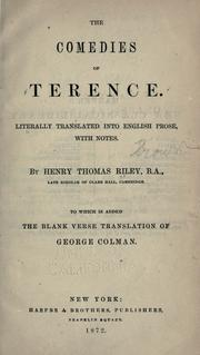 Cover of: Comediae by Terence.
