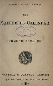 Cover of: The shepheardes calender by Edmund Spenser