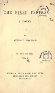 Cover of: The fixed period by Anthony Trollope